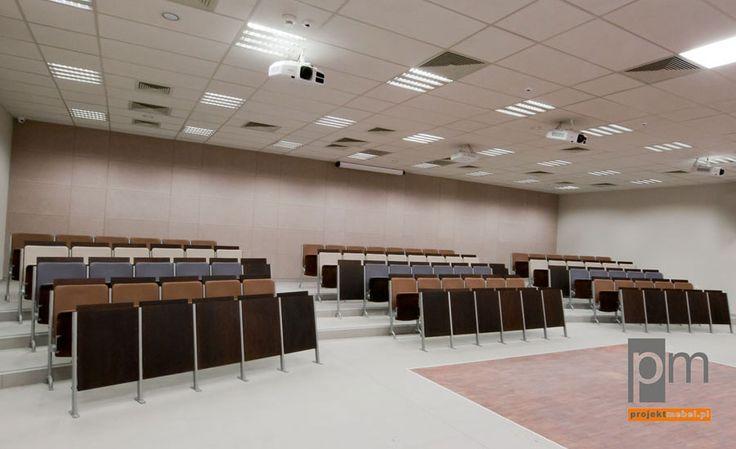 Fotele audytoryjne, więcei na http://www.projektmebel.pl/realizacje/politechnika-lodzka