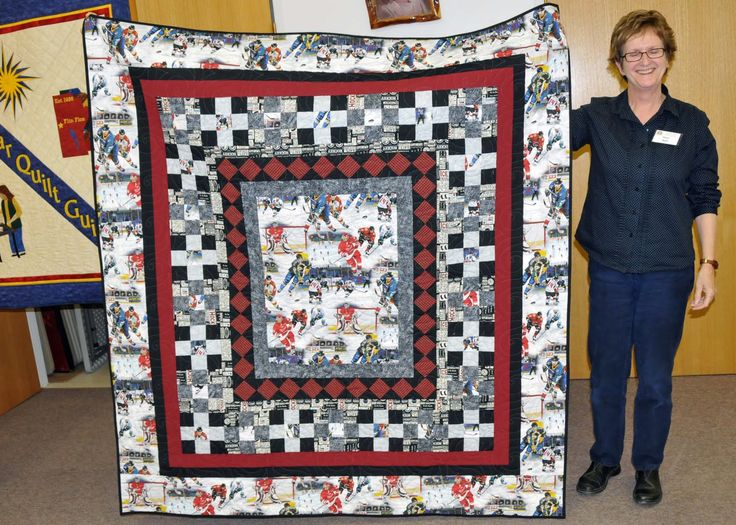 22 best HOCKEY QUILTS images on Pinterest | Field hockey, Hockey ... : hockey quilt patterns - Adamdwight.com