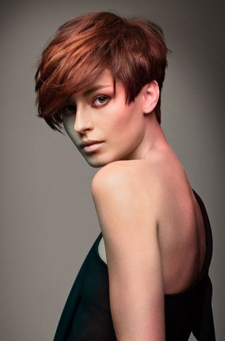 reddish brown for short hair 2017