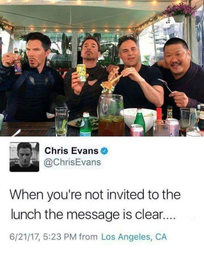 Poor Chris..... left out again