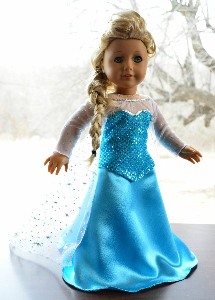 "Elsa's Dress in Disney's Frozen Outfit Clothes for 18"" American Girl Lumi 