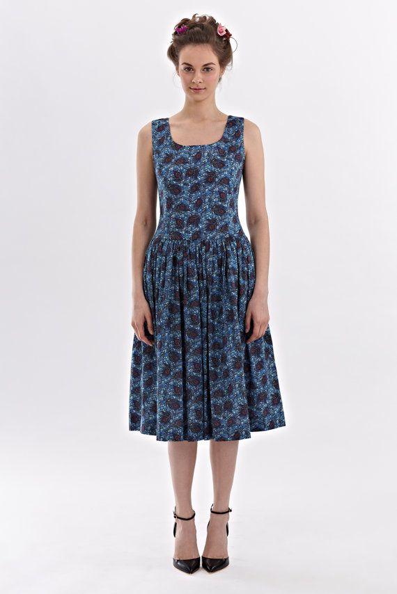 Lydia  low waist dress made of Liberty Art Fabric por mrspomeranz, £280.00