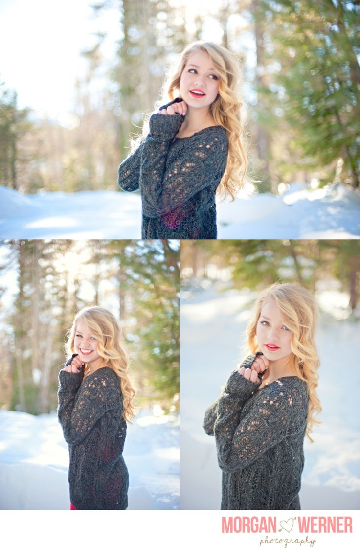 """"""" Morgan Werner Senior Photography   Senior in the Snow. """" this is exactly what I want for my senior pictures"""