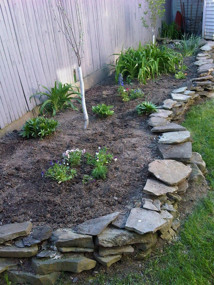 25+ Flat Stone Border Landscape Edging Ideas Pictures and