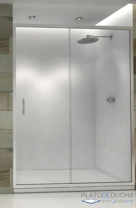 Mampara de ducha Dora frontal corredera. Con Cristal templado de 6 mm y Antical Incluido