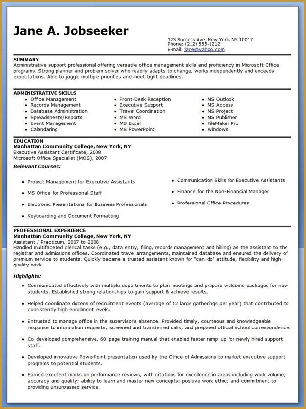 Office Manager Skills Resume Administrative Resume Sles 28 Images Resume Cover  Minouette .