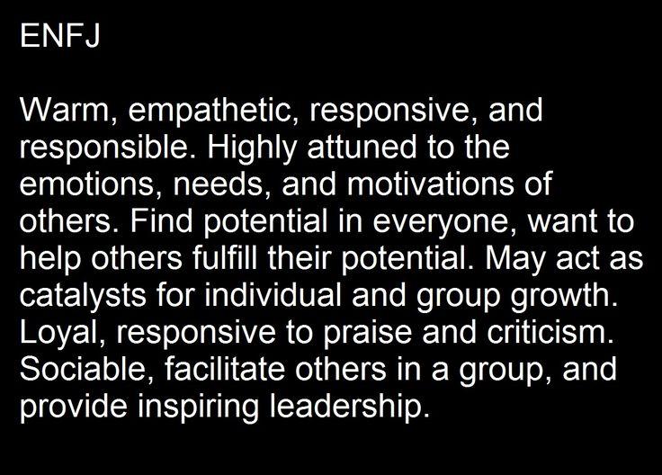 ENFJ characteristics