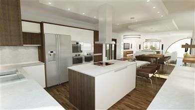 obývák s bílou kuchyní - Hledat Googlem