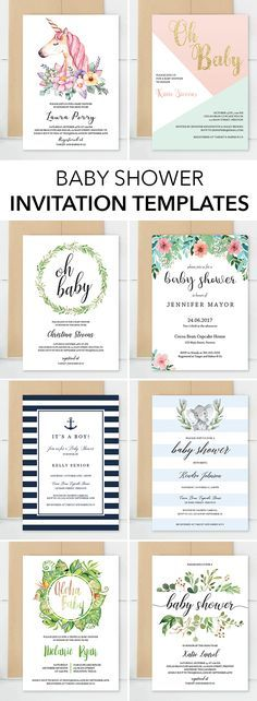 Unique baby shower invitation templates by LittleSizzle. You will make the perfect announcement of your friends baby shower with these gorgeous invitations. Choose one of our designs featuring the most beautiful collections, like Floral Garden for a sweet