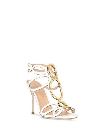 Sergio Rossi - svatební boty na míru - služba VIP, sandálky bílozlatá,bílá, zlatá, svatební obuv, svadobné topánky, svadobné sandálky na mieru, svatební sandálky vintage, svatební sandálky boho style, svatební sandálky - grécky, aténsky bohémsky štýl