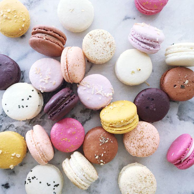 a daily assortment of macarons available at Jenna Rae Cakes  #jennaraecakes #macarons #bakery