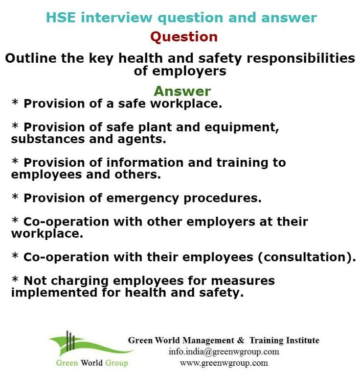 Health and safety interview tips. http://greenworldsaudistuff.tumblr.com/post/149072772748/hse-interview-questions
