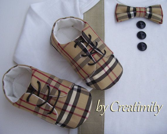 Burberry baby boy shoeschristening baby boy by CreatimityElegance