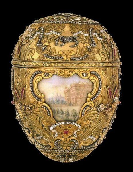 Peter, the Great Egg, 1903.  This Easter egg was made under the supervision of the Russian jeweler Peter Carl Fabergé i for the last Tsar of Russia, Nicholas II.