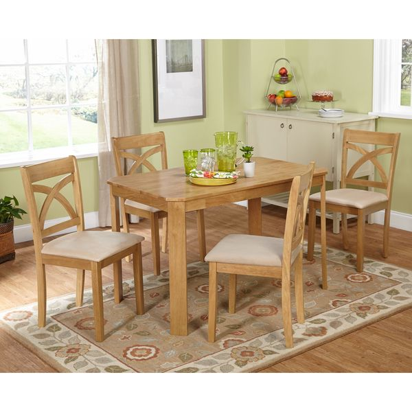 Simple Living 5-piece Verbena Light Oak Dining Set - Overstock™ Shopping - Big Discounts on Simple Living Dining Sets
