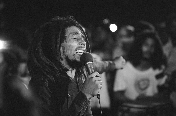 #Reggae legend #BobMarley (1945-1981) would have celebrated his 71st #birthday today.  In this image: Bob Marley performing 48 hours after the failed assassination attempt on his life. He wasn't able to play guitar that night because of his wound. Kingston #Jamaica. December 5 1976.  #AlexWebb/#MagnumPhotos. by magnumphotos