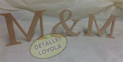 Letras para decoración de eventos o cuartos. En diferente tamaño o grosor. Detalles Loyola
