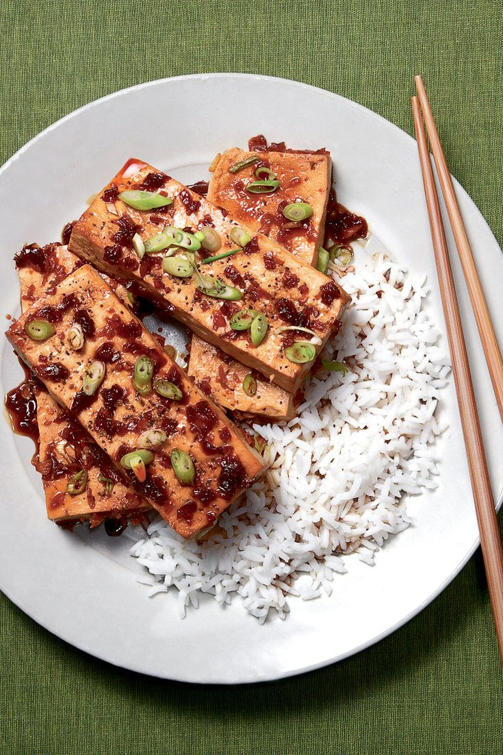 ... braised in caramel sauce. Here, tofu, firm and rich,… | Pinteres