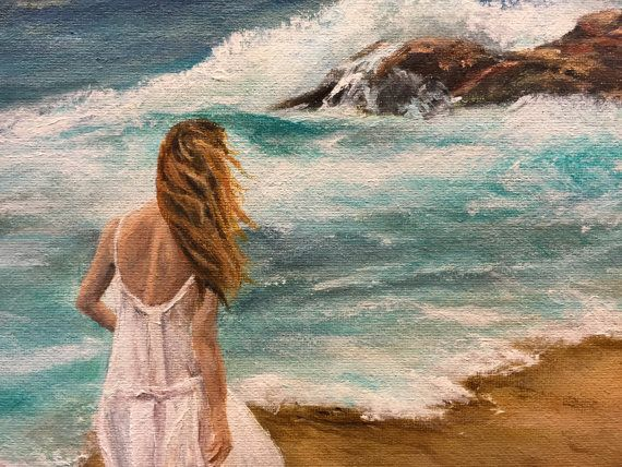 11x14 Giclee Print of  The Wave by fine artist Jenn Hollis High quality giclee print signed on back by artist 1/2 inch border suitable for framing other sizes available upon request, please message me for pricing.