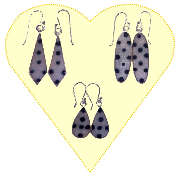 NEW EARRINGS FOR THIS WEEK - Kaye Sterling Silver with enamelling - come in 3 shapes - Diamond, Oval & Tear Drop.  See - http://www.comeandshop.com.au/collections/jewellery/products/kaye-sterling-silver-earrings-with-enamelling-3-shapes for more details