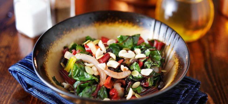 Zin in eten, rode bietenloof, bijgerechten, lunchgerechten, vegetarische hoofdgerechten