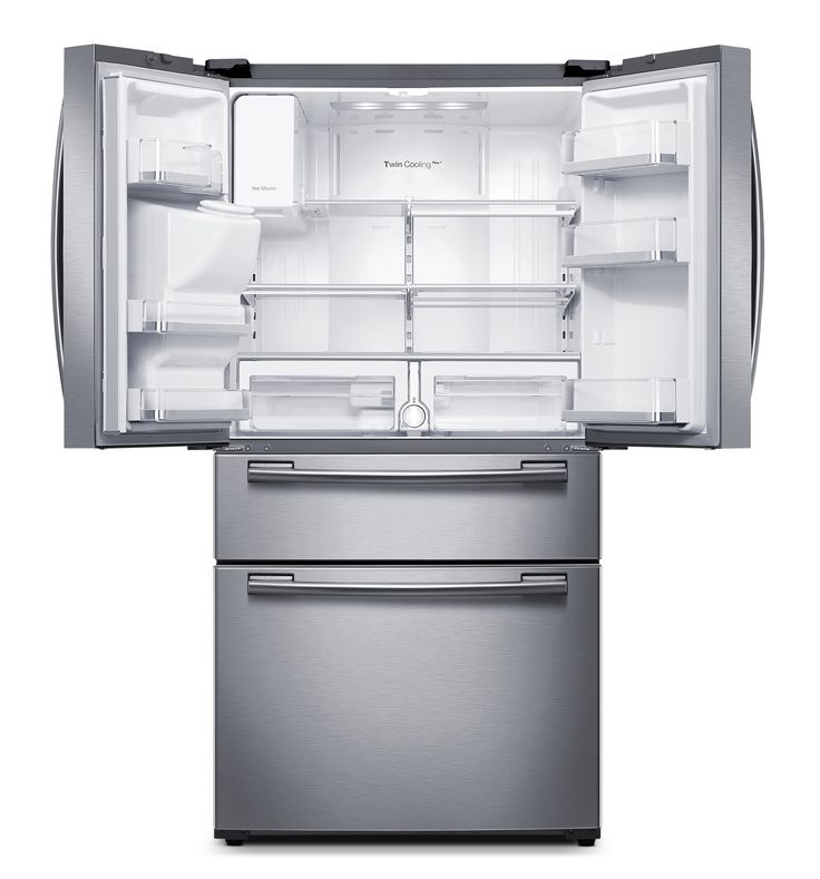 Samsung Stainless Steel French Door Refrigerator (25 Cu. Ft.) - RF25HMEDBSR/AA…