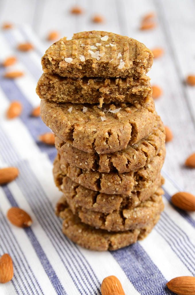 Raw Almond Butter Cookies. Recipe from http://blissfulbasil.com/2014/03/17/raw-almond-butter-cookies/.