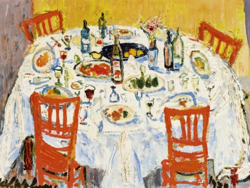 Henri-Victor Wolvens (Belgian, 1896 - 1977)Table Covered ...