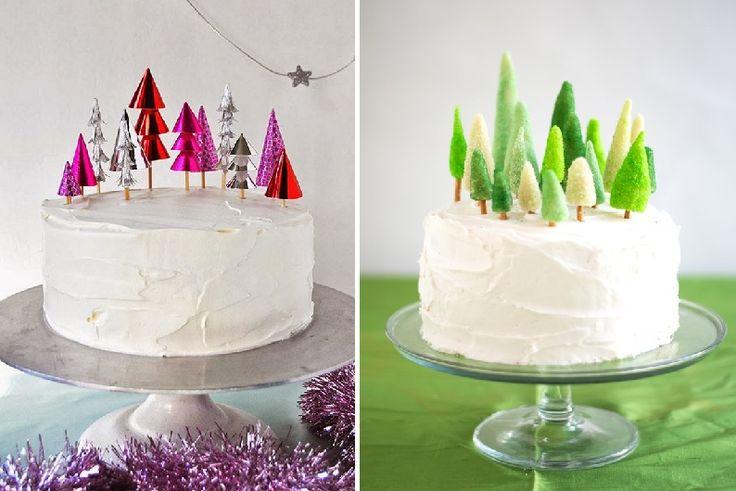 Как украсить новогодний торт. Два мастер-класса