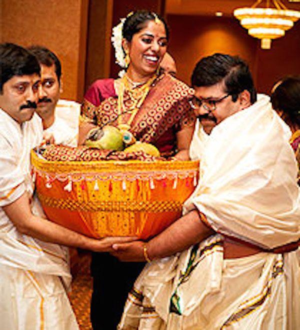 Wedding Fun! - Cool Bridal Entries in a South Indian Wedding. http://www.3productionweddings.com/blog/south-indians-weddings-fun-matter-say/