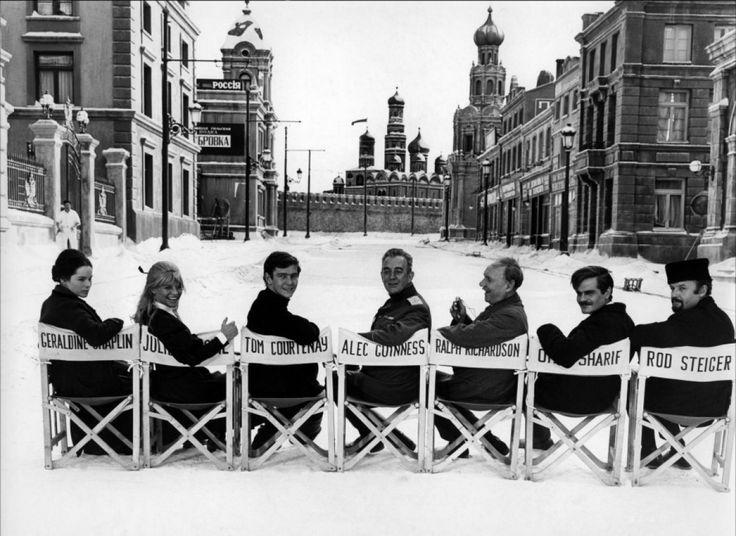 Geraldine Chaplin, Julie Christie, Tom Courtenay, Alec Guinness, Ralph Richardson, Omar Sharif and Rod Steiger from Doctor Zhivago