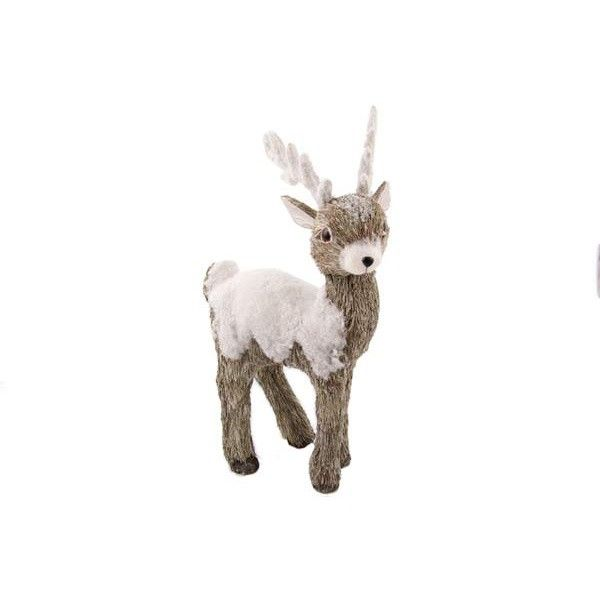 Beautiful brown reindeer, in natural materials | It's all about Christmas