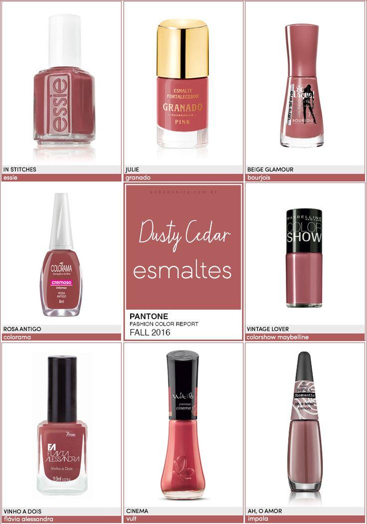 Pantone Fashion Color Report FALL 2016   6/10   Dusty Cedar - Unha Bonita