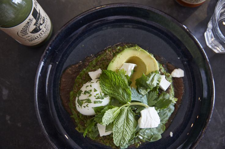 Our sauce go's with just about anything, including these pea pancakes from porch and parlour Bondi.