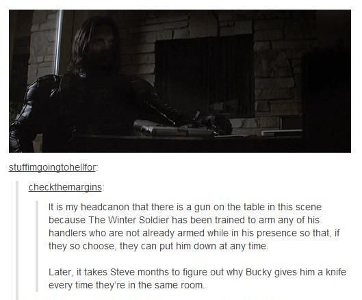 When I think I cannot have sadder thoughts about Bucky ...