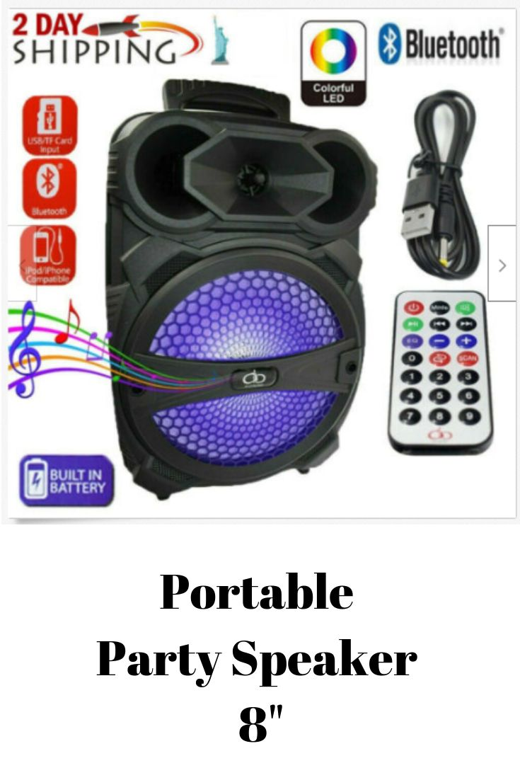 "Portable Loud Speaker 1000W Bass Stereo Sound System 12/"" USB Bluetooth Wireless"