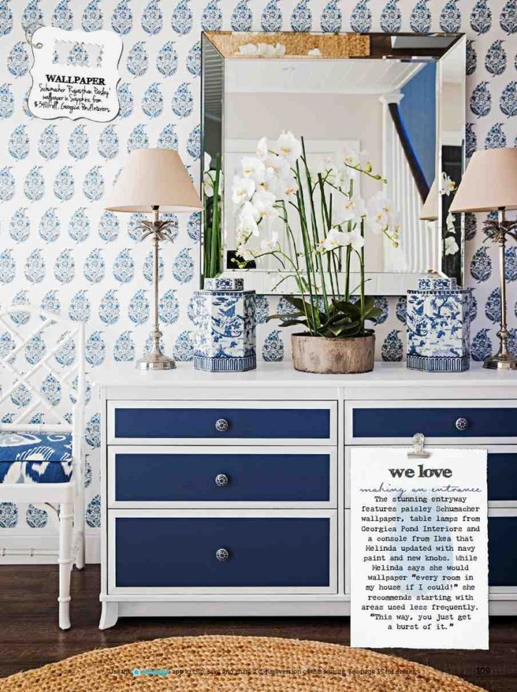 Perfect Ikea Console Update   Navy Paint And New Knobs. Home Beautiful Magazine May  2014 Issue Great Ideas