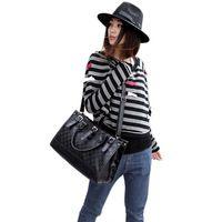 ShippingNew manera libre del bolso de las mujeres de cuero PU Compruebe Totes Hobo la taleguilla del bolso del hombro