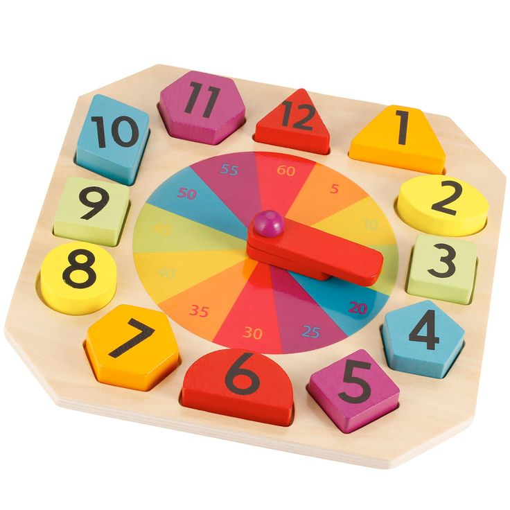 Wooden Clock And Puzzle | Kmart