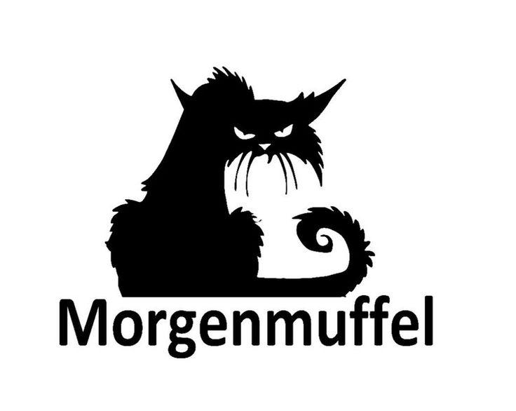 """Bügelbild """"Morgenmuffel"""" aus Flex-Folie von Folienschnitt auf DaWanda.com"""
