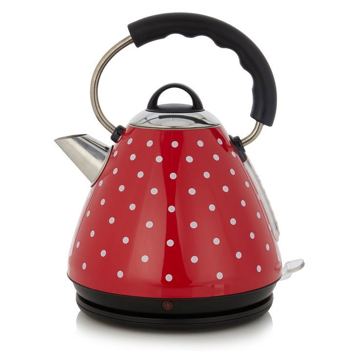 George Home L 1.7L 3kW Fast Boil Pyramid Kettle - Polka Dot | Kettles | ASDA direct
