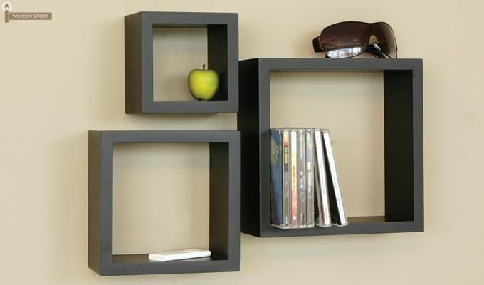 Buy Trenton Wall Shelf Set Of 3 Black Finish Online In India In 2020 Bedside Wall Shelf Wall Shelf Decor Wall Shelves Bedroom