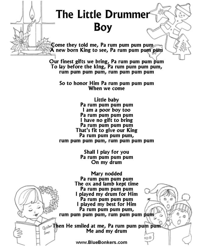 music lyrics free printable | ... Free Printable Christmas Carol Lyrics Sheets : Favorite Christmas Song