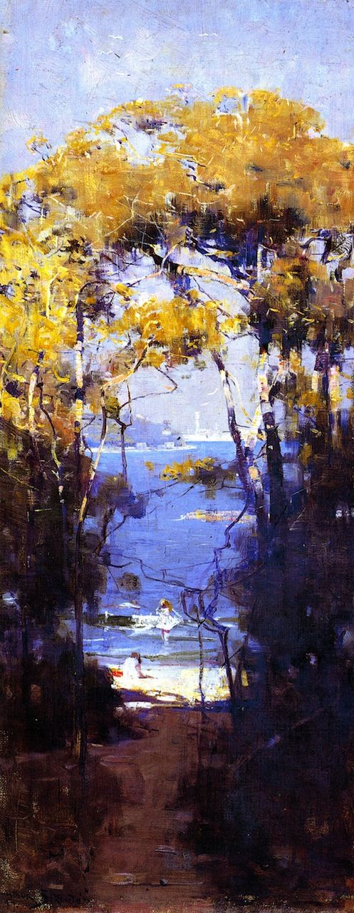 Sir Arthur Streeton - Sorrento, Naples (also known as Balmoral Beach)