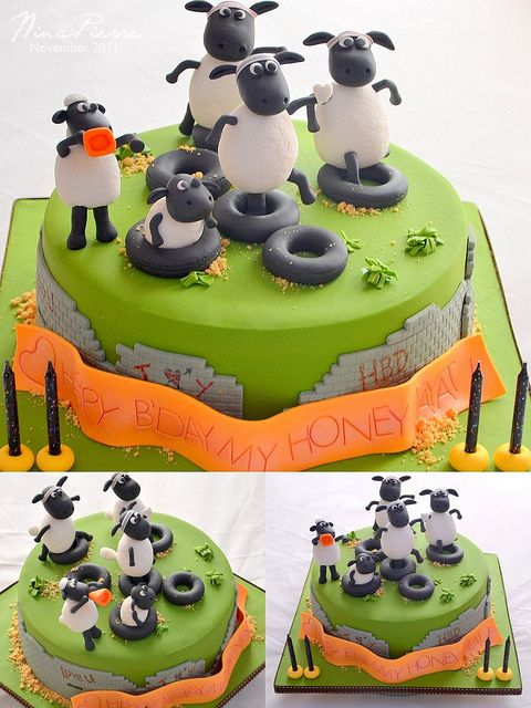shaun the sheep cake by nina-pierre, via Flickr