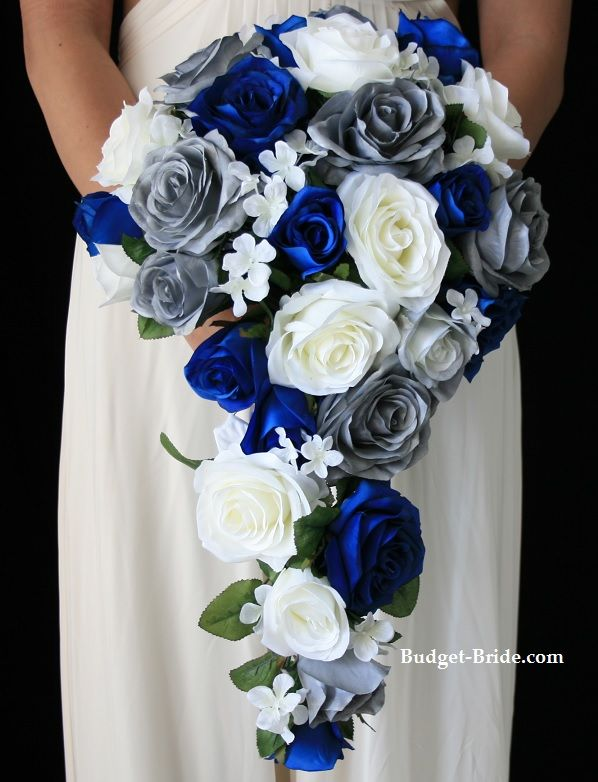 Blue and Silver Flower Brides Collection would love to recreate this for my wedding.