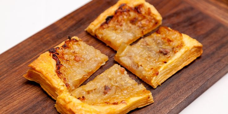 French maestro Pierre Koffmann shares his recipe for this rustic French classic, comprised of meltingly sweet onions, puff pastry and anchovies.