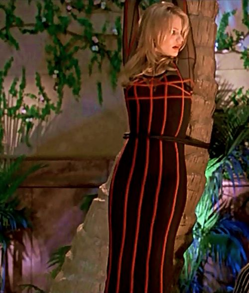 Cameron Diaz Mask stripe dress | cameron diaz #the mask #tina carlyle