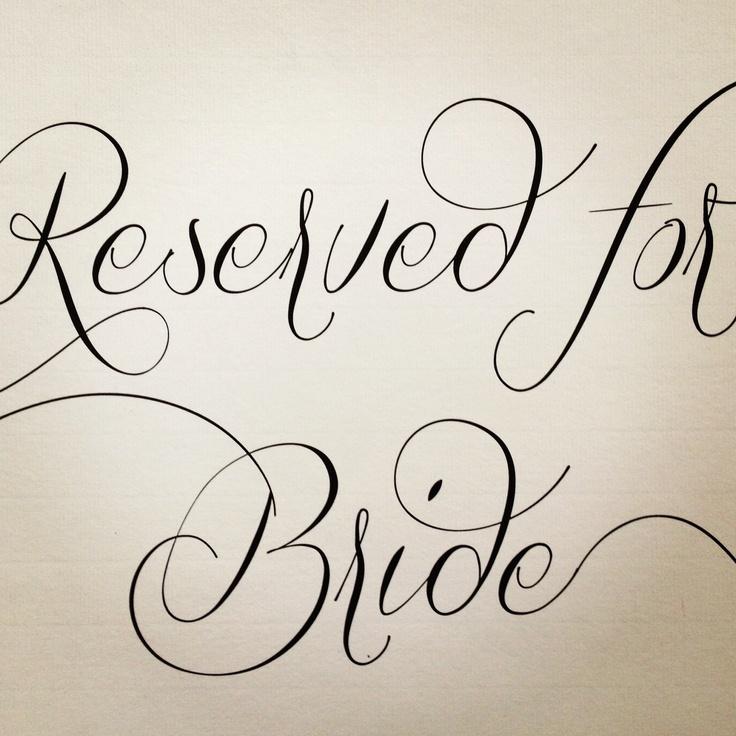 Mr & Mrs Benji Marshall Wedding Stationary I designed - Reserved for Bride sign for the isle