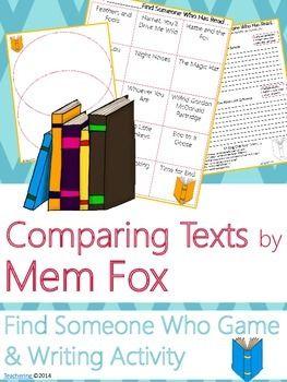 Mem Fox Author Study {Comparison & Contrast Writing and Game}